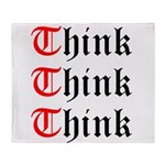 think-think-think-old-english Throw Blanket