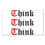 think-think-think-old-english Sticker (Rectang