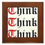think-think-think-old-english Framed Tile