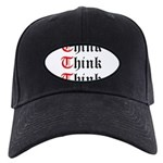 think-think-think-old-english Black Cap with P
