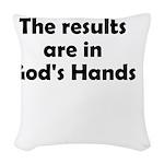 results-gods-hands Woven Throw Pillow