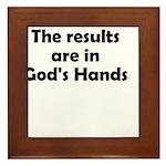 results-gods-hands Framed Tile