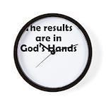 results-gods-hands Wall Clock