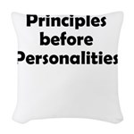 principles=personlaities Woven Throw Pillow