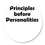 principles=personlaities Round Car Magnet