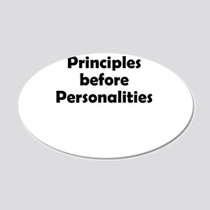 principles=personlaities 20x12 Oval Wall Decal