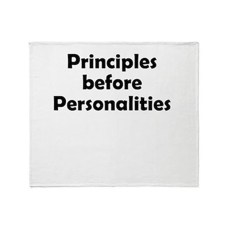 principles=personlaities Throw Blanket