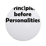 principles=personlaities Round Ornament