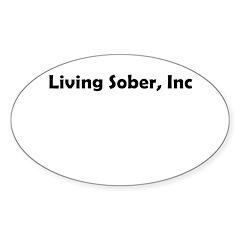 living-sobr-inc Sticker (Oval)