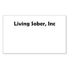 living-sobr-inc Sticker (Rectangle)
