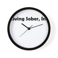 living-sobr-inc Wall Clock
