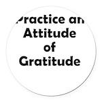 attitude-gratitude Round Car Magnet