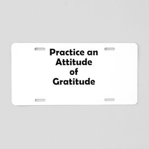 attitude-gratitude Aluminum License Plate