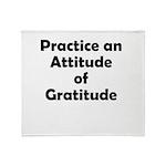 attitude-gratitude Throw Blanket