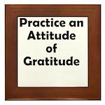 attitude-gratitude Framed Tile