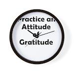 attitude-gratitude Wall Clock