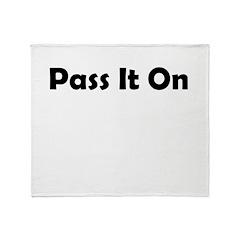 pass-it-on Throw Blanket