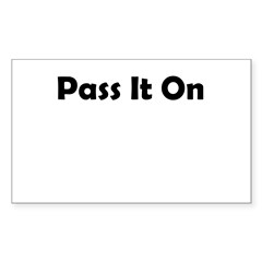 pass-it-on Sticker (Rectangle)