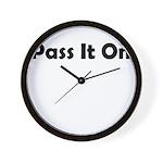 pass-it-on Wall Clock