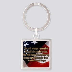 PRES40 ALWAYS BE Square Keychain