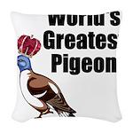 greatestpigeon Woven Throw Pillow