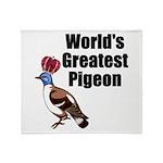 greatestpigeon Throw Blanket