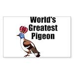 greatestpigeon Sticker (Rectangle 10 pk)