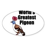 greatestpigeon Sticker (Oval 10 pk)