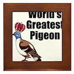 greatestpigeon Framed Tile