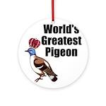 greatestpigeon Round Ornament