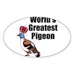 greatestpigeon Sticker (Oval)
