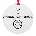 Attitude Adjustment Round Ornament