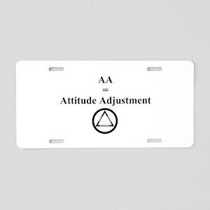 Attitude Adjustment Aluminum License Plate