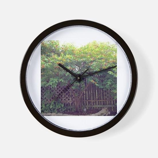 Cute Backyard Wall Clock