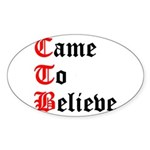 came-to-believe-oldeng Sticker (Oval 50 pk)