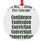 5-concepts Round Ornament