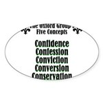 5-concepts Sticker (Oval)