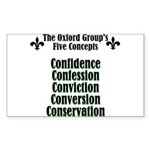 5-concepts Sticker (Rectangle)
