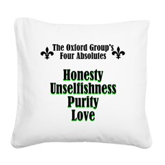 4-absolutes Square Canvas Pillow