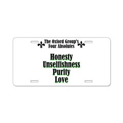 4-absolutes Aluminum License Plate