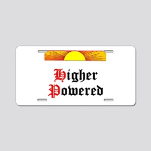 HIgher Powered (Sunrise) Aluminum License Plate