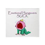 Emotional Hangovers Throw Blanket