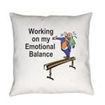 Working on My Emotional Balance Everyday Pillow