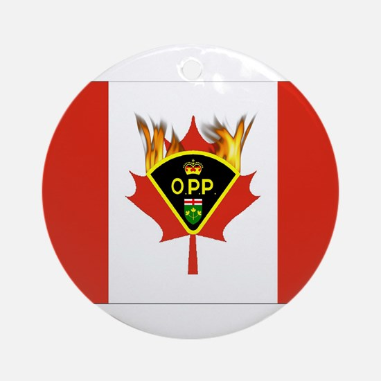 Ontario Police Gifts Ornament (Round)
