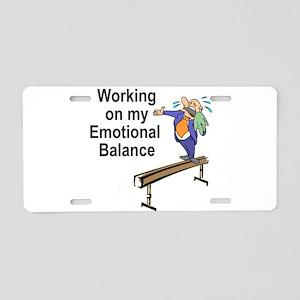 Working on My Emotional Balance Aluminum License P