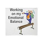 Working on My Emotional Balance Throw Blanket