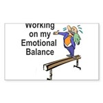 Working on My Emotional Balance Sticker (Rectangle