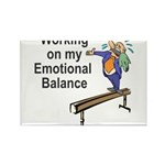 Working on My Emotional Balance Rectangle Magnet (