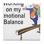 Working on My Emotional Balance Tile Coaster