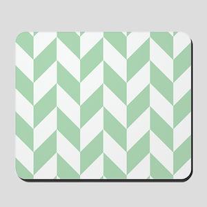 Mint Green Herringbone Mousepad